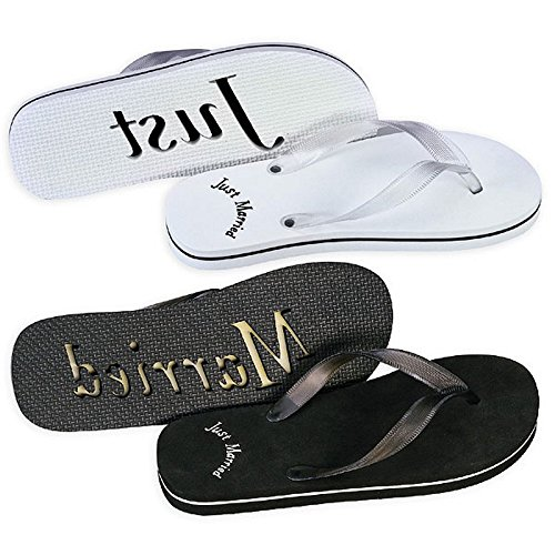 Weddingstar Inc. Just Married flip Flops for Bride and ()