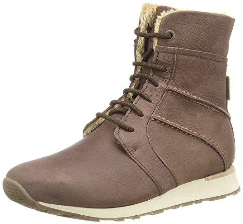 bajo de Naturalista WALKY cuero de mujer ND97 botas marrón El marrón caño EIYgn1wwq