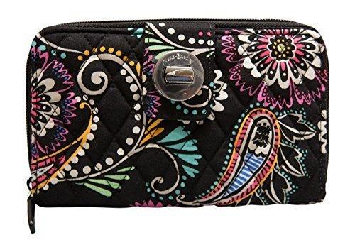 Vera Bradley Turnlock Wallet, Bandana Swirl
