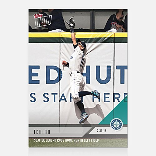 2018 ICHIRO SUZUKI TOPPS NOW CARD #15 SEATTLE MARINERS LEGEND ROBS HOMERUN IN LF + TOPLOADER