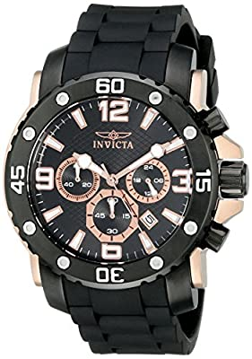 Invicta Men's 18167 Pro Diver Analog Display Quartz Black Watch