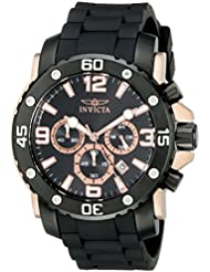 Invicta Mens 18167 Pro Diver Analog Display Quartz Black Watch