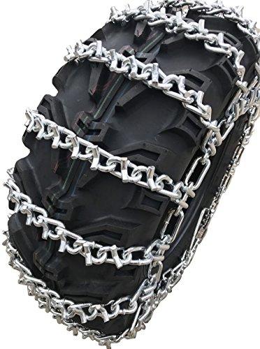 TireChain.com 25 X 10 X 12, 25 10 12 ATV UTV 2 Link V Bar Tire Chains Set of 2