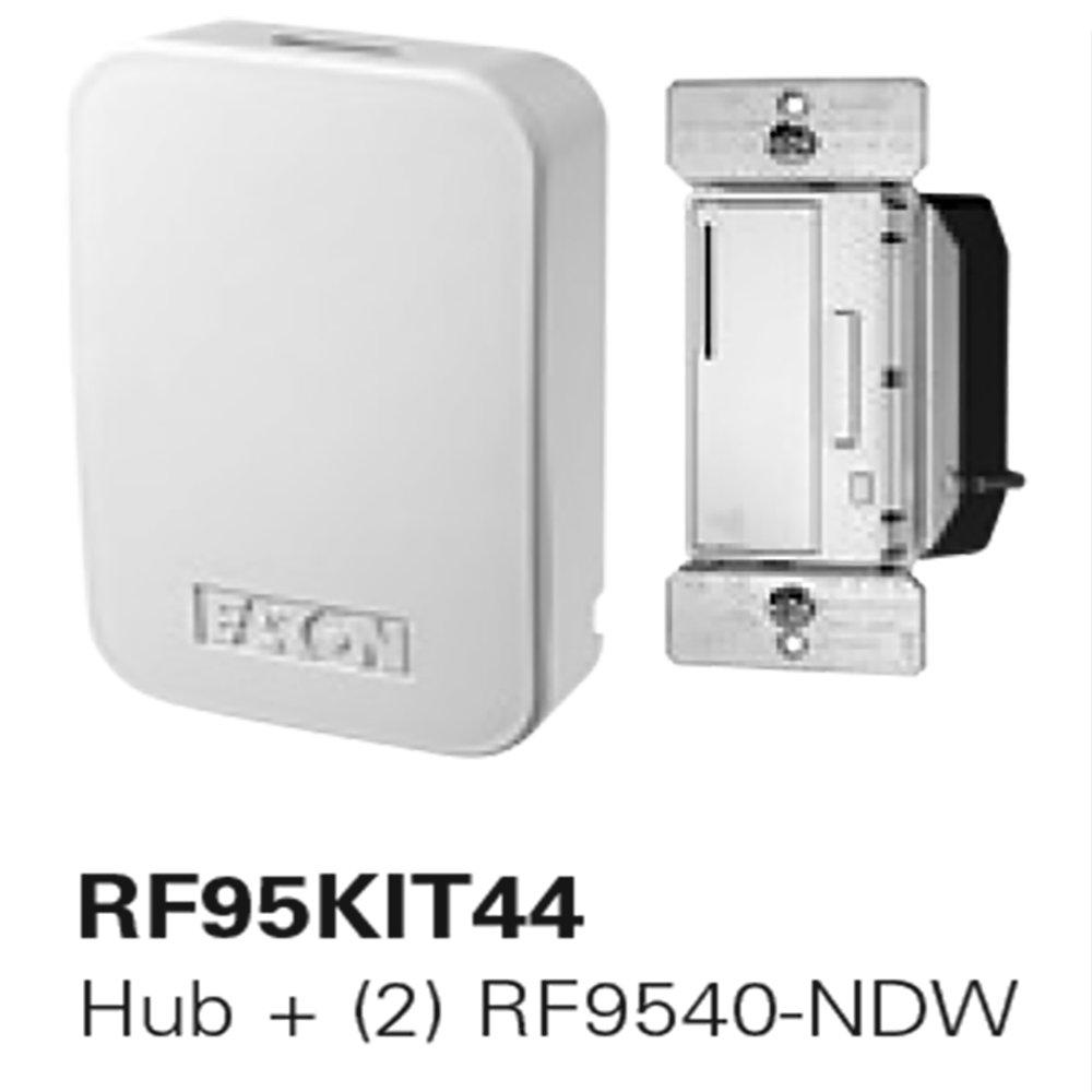 【送料無料/即納】  Eaton RF95KIT44 ホームオートメーションハブ RF95KIT44 ホワイト Z-Wave調光器2個付き ホワイト Eaton B07CX3HT7S, ゴルフショップ ゼロステーション:ea886644 --- a0267596.xsph.ru