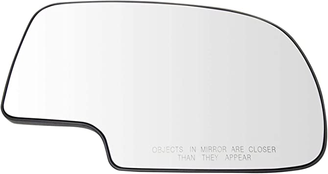 Fits 99-07 Chevy Silverado Left Driver Mirror Glass Lens Fits Power Only    no