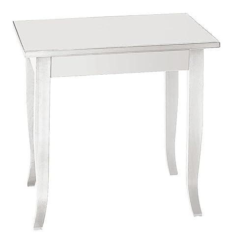 CLASSICO tavolo Shabby Chic bianco laccato quadrato fisso per bar e ...