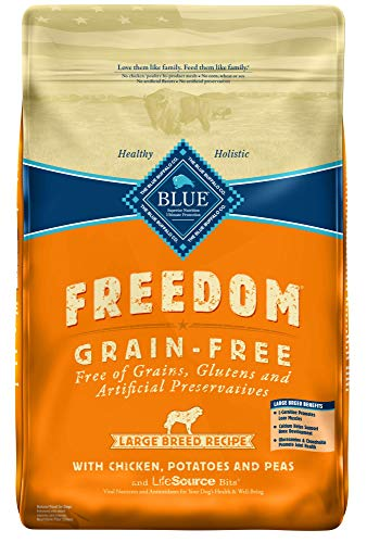 Blue Buffalo Large Breed Freedom Grain Free Chicken Recipe Dry Dog Food, 24-Pound