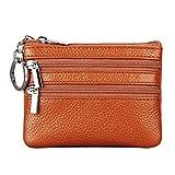 YJYDADA Wallet Holder,Money Bags Small Change Women's Wallets Key Holder Case Mini Zipper Coin Wallet (Brown)