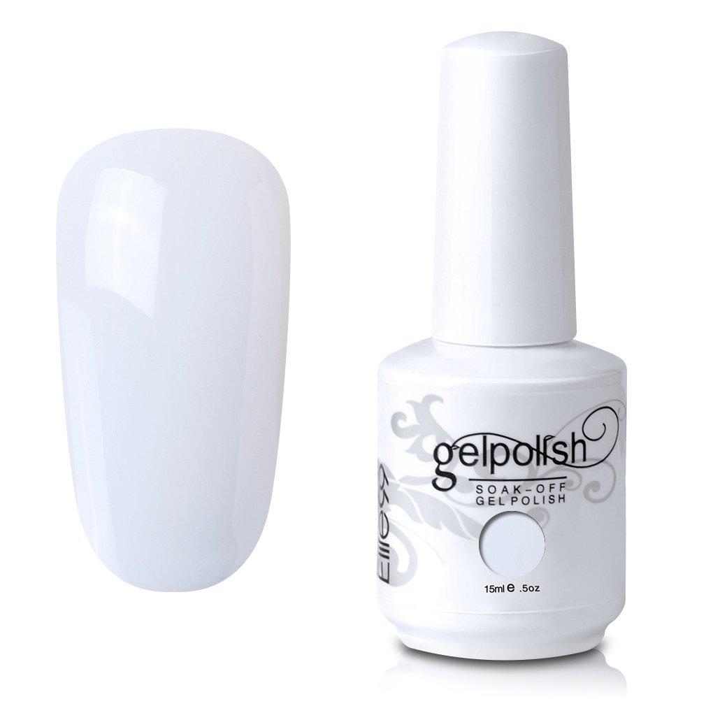 Elite99 Gel Nail Polish Soak Off White Gel Nail Varnish Cure under UV LED  Nail Lamp Nail Art Manicure