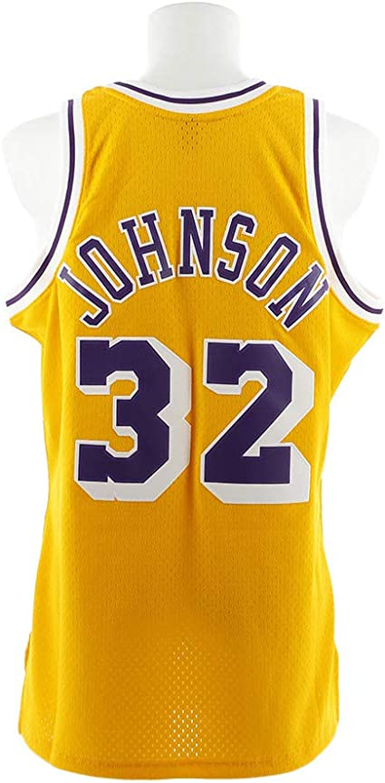 MitchellNess Los Angeles Lakers Magic Johnson Swingman Jersey 2.0 1984-1985