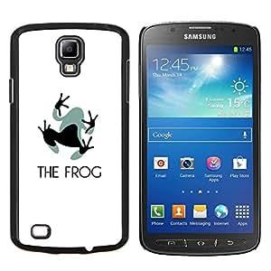 KLONGSHOP // Cubierta de piel con cierre a presión Shell trasero duro de goma Protección Caso - Pies Pequeño Gris Negro Animal Art - Samsung Galaxy S4 Active i9295 //