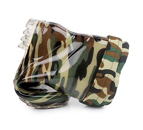 Pioggia Pioggia Caldo Pioggia Pioggia Uomini scivolo Anti Impermeabile Scarpe camouflage Stivali aEYExdrq