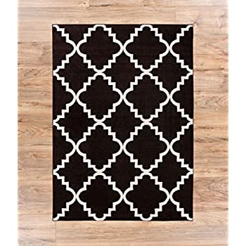 Casual Area Rug 3x5 33 X 47 Easy To Clean Stain Fade Resistant Shed Free Contemporary Traditional Moroccan Lattice Soft Living Dining Room