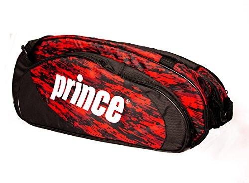 Prince 2016 Team (6-Pack) Tennis Bag (Black/Red)