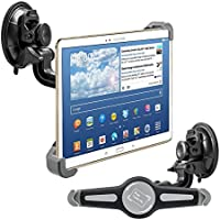 kwmobile car shield mount for 10 Tablet PC - car mount with suction cup in black - e.g. compatible with Apple, Samsung, Lenovo, Asus, Huawei, Amazon, Acer, Microsoft, Sony, LG