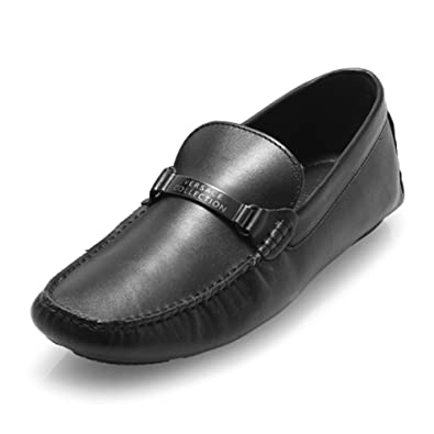 399211a3 Amazon.com: Versace Collection Men's Classic Leather Slip on Loafers ...