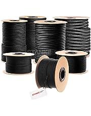 Seilwerk STANKE gevochten touw van polypropyleen ZWART zeilen touw, koord - 10mm, 10m