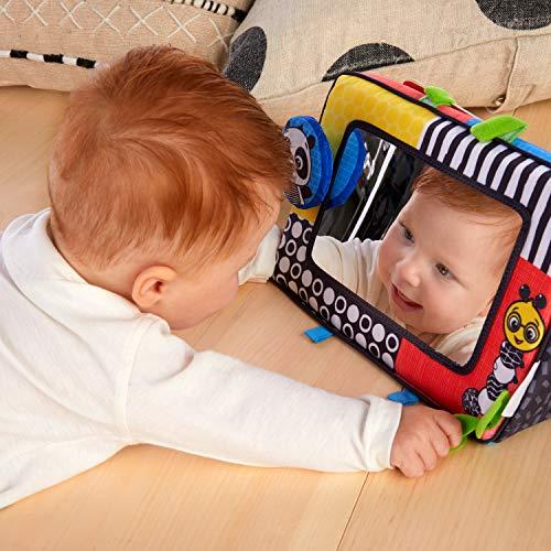 51sKWg0UmHL - Baby Einstein Flip for Art High Contrast Floor Activity Mirror with Take Along Cards, Newborn+