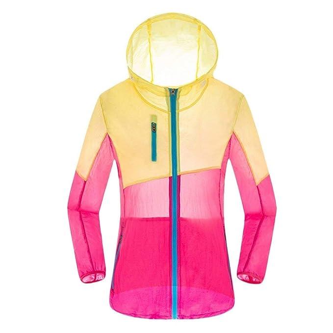 HX fashion Mujer Chaqueta con Capucha Primavera Otoño Impermeable Lluvia Abrigos Basic Abrigos Cómodo Casuales con Bolsillos Manga Largo Cremallera ...