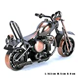 Pop Time Bronze Retro Classic Handmade Iron Motorcycle ornament, Handcrafted Iron Metal Motorcycle Collectible Art Sculpture Motorbike For Home Decor