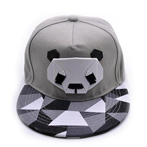 Gris Gorras Hop Béisbol de ❤️ Hip LuckyGirls Sombreros Panda Unisex FFzqrw0