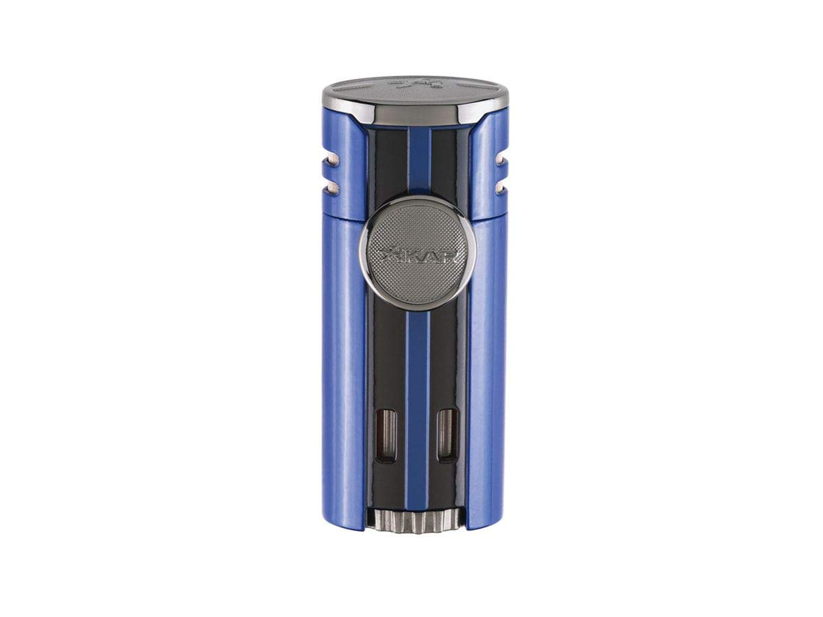 High Performance HP4 Diamond Quad Flame Cigar Lighter, in Attractive Gift Box, in-line Fuel Adjustment Wheel, Oversized Double EZ-View Fuel Windows, Lifetime Warranty, Gunmetal 2 by Xikar (Image #1)