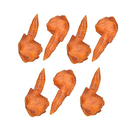 7 Pcs Fake Chicken Wings Artificial Roast Chicken Food Home House Kitchen Decor Sketching Tool Photography Props By Crqes by Crqes