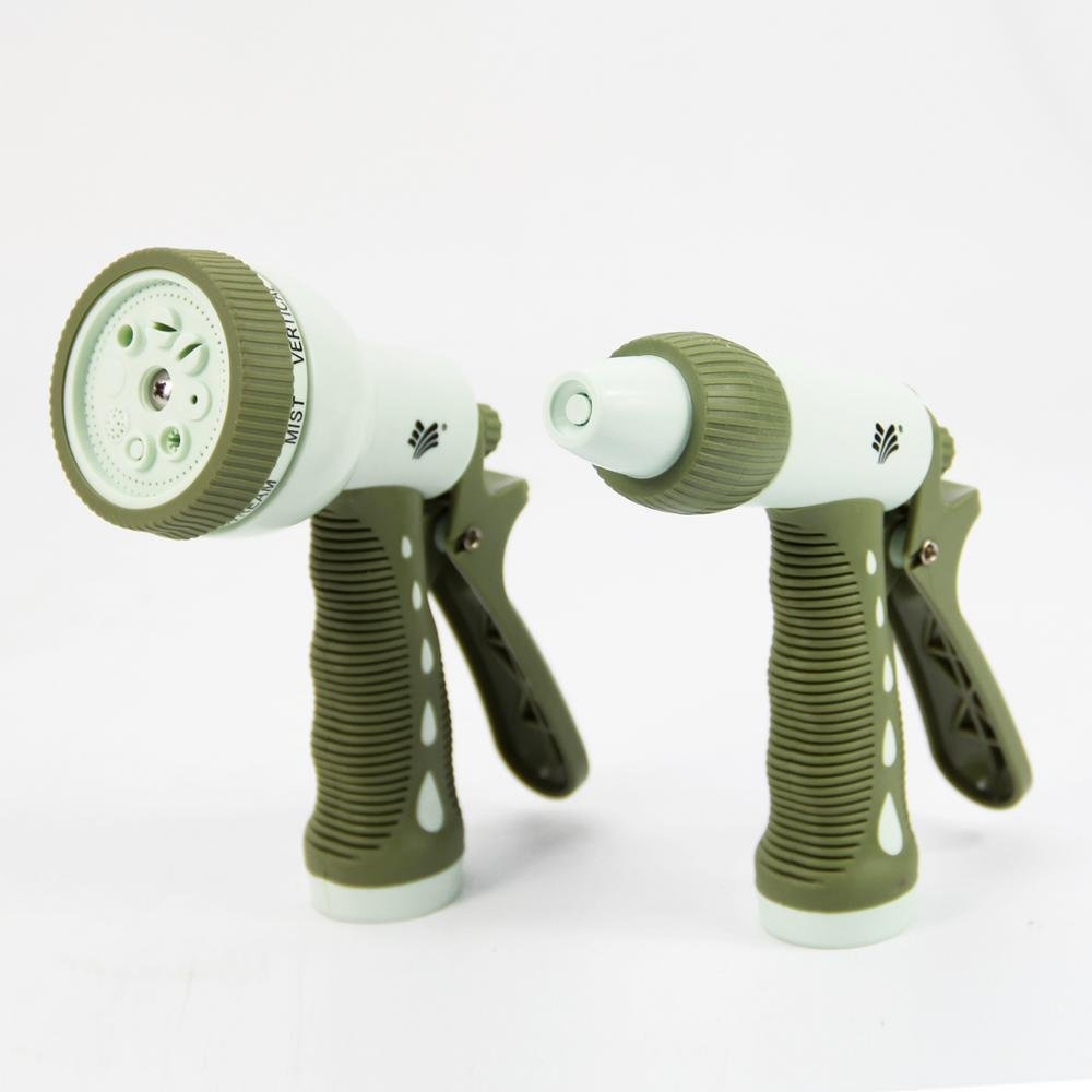 AmzHero Residential Dual Spray Nozzle Set Rear Trigger Green and Beige