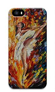 Artsy Hard 3D Plastic Case Back Cover for iPhone 5 5S with Colorful Art Ballet Painting Printed by runtopwell