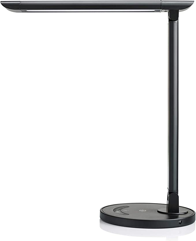 Amazon.com: TaoTronics TT-DL13B LED Desk Lamp Eye-caring Table Lamps, Dimmable Office Lamp with USB Charging Port, Touch Control, 12W, 5 Color Modes, Philips EnabLED Licensing Program (Black): Home Improvement