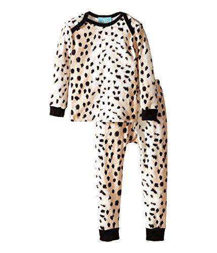 BedHead Kids Baby Girl's L/S Tee & Pant (Infant) Royal Animal Pajama Set 18-24 Months