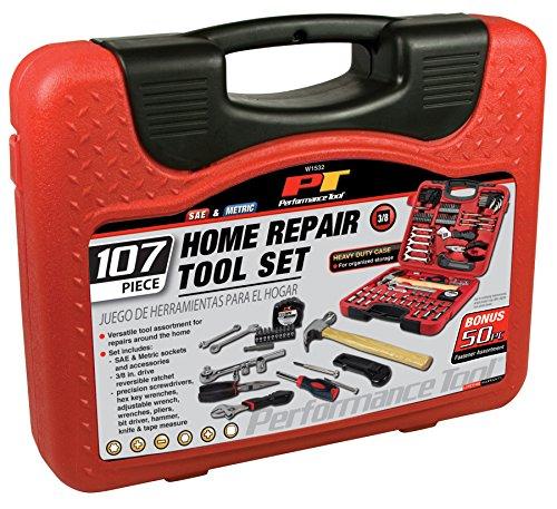 Performance Tool W1532 SAE/Metric 107 Piece Home & Auto Tool
