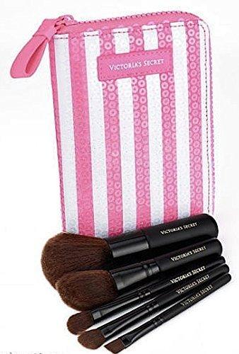 93306b8782716 Buy Victoria's Secret Pink/White Stripe Sequin Case Makeup Travel ...