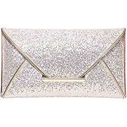 Women's Sequins Envelope Party Clutch
