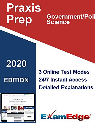 Praxis Government/Political Science   (5931) Certification Practice tests with detailed explanations. 5-Test Bundle with 600 Unique Test Questions