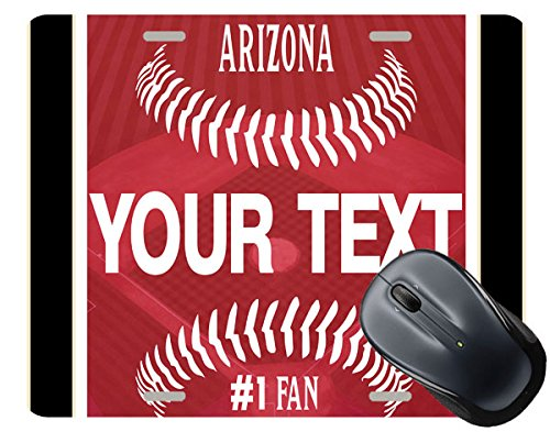 BRGiftShop Customize Your Own Baseball Team Arizona Square Mouse Pad