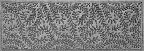 Bungalow Flooring Waterhog Indoor/Outdoor Runner Rug, 22 x 60 inches, Made in USA, Skid Resistant, Easy to Clean, Catches Water and Debris, Boxwood Collection, Medium Grey (Outdoor Mat Runner)
