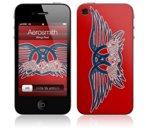 Zing Revolution MS-AERO20133 Aerosmith - Wings Red Cell Phone Cover Skin for iPhone ()