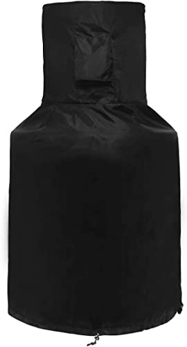 SIRUITON Chiminea Cover Outdoor Waterproof Breathable Oxford Polyester Chiminea Protective Cover Black H48in