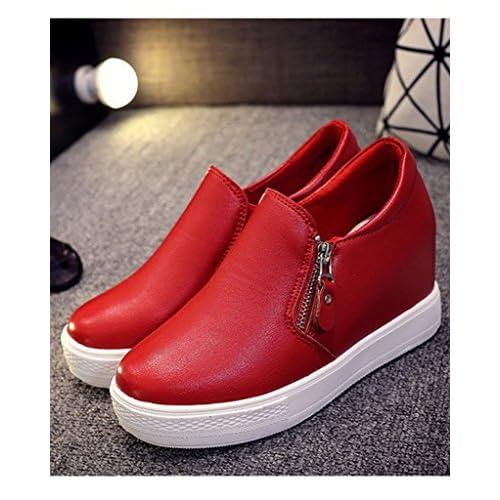 2b3ed110 Durable Modelando Minetom Mujer Otoño Invierno PU Cuero Botas Botines  Plataforma Confortables Suela Gruesa Zapatos