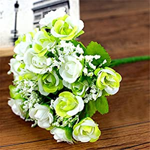 FYYDNZA 1 Bouquet 21 Diamond Heads Artificial Rose Crafts Decorative Floral Artificial Flowers Valentine'S Day Wedding Decoration Plants 3
