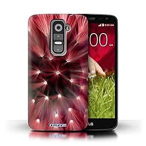 Kobalt® protector duro de nuevo caso / cubierta para el LG G2 Mini/D620 | Rojo Diseño | Luces de flores florales colección
