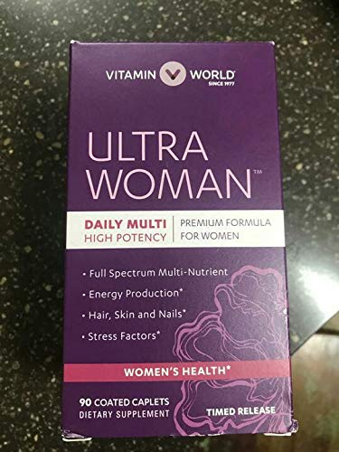 Vitamin World Ultra Woman™ Daily Multivitamins 90 Coated Caplets, NEW LOOK