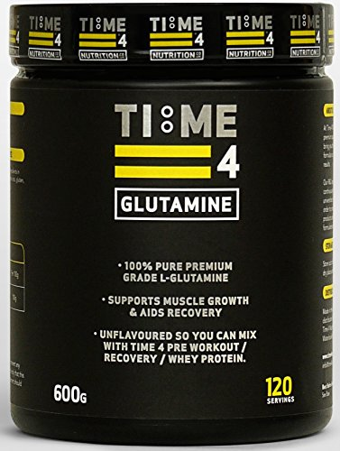 Time 4 Glutamine 600g 120 Servings - 100% Pure Premium Grade L - Glutamine by Time 4 Nutrition by Time 4 Nutrition