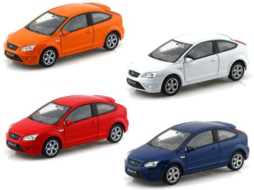 NEW 1:32 DISPLAY WELLY COLLECTION - FORD FOCUS ST Diecast Model Car By Welly (Set of 4 Cars) (Ford Focus Model compare prices)