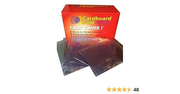 Ahorrador de tarjeta de oro de cartón 50 1 PSA titulares de tarjetas de presentación Semi Rígido Sellado