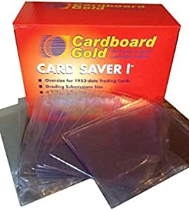 Graded Submission Size 200ct Semi Rigid Card Holders #1 Gem Mint Supplies
