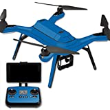 MightySkins Protective Vinyl Skin Decal for 3DR Solo Drone Quadcopter wrap cover sticker skins Solid Blue