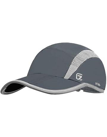 0dcbd075ea4fa GADIEMKENSD UPF 50+ Outdoor Hat Folding Reflective Running Cap Unstructured  Sport Hats for Men