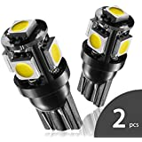 Marsauto T10 168 194 2825 LED Light Bulbs Super Bright 5SMD Exterior License Plate Lights Lamp, Car Interior Courtesy Dome Lights Map White 2-Pack